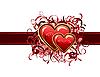 Векторный клипарт: Гранж Валентина карту с сердечками
