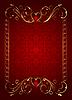 Векторный клипарт: цветочная карта с сердечками для дня Святого Валентина