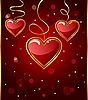 Vector clipart: congratulation card with heart for Valentine's day