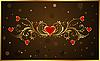 Векторный клипарт: цветочный фон для Дня святого Валентина