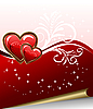 Vector clipart: romantic elegance background with heart