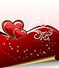 Векторный клипарт: романтический фон элегантность с сердцем