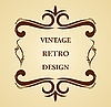 Vector clipart: Luxury vintage for design