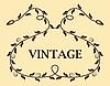 Vector clipart: Vintage template