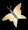 Gold Schmetterling schwarzem Hintergrund