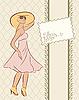 Векторный клипарт: старинные девушка с картой, эскиз стиль