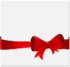 Vector clipart: Celebration card with tape and bow