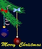 Vector clipart: Christmas branch with balls
