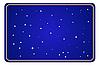 Векторный клипарт: синий фон со звездами