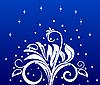 Vector clipart: Christmas flower background