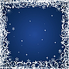 Vector clipart: blue floral Christmas frame