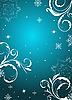 Векторный клипарт: новогодний цветочный фон