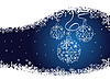Vector clipart: blue christmas background with balls