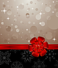 Vector clipart: Christmas background with red bow