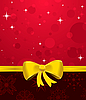 Vector clipart: Christmas background with yellow bow