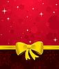 Векторный клипарт: новогодний фон с желтым бантом