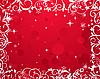 Векторный клипарт: красная зимняя цветочная рамка