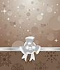 Векторный клипарт: новогодний фон с бантом
