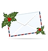 Christmas letter with Holly berry | Stock Vector Graphics