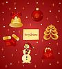 Vector clipart: christmas items