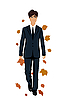 elegant autumn man
