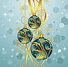 Vector clipart: abstract blue background with Christmas balls