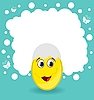 Vector clipart: Easter card with egg character
