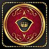 Vector clipart: gold vintage frame