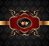 Vector clipart: gold vintage emblem