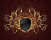 Vector clipart: golden ornate frame with shield