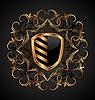 Vector clipart: ornate heraldic shield