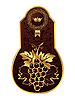 Vector clipart: golden frame for wine