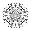 Векторный клипарт: декоративный вихрь образец