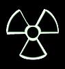 Vector clipart: the warning symbol of radioactive hazard