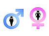 Vector clipart: Male and female signs are