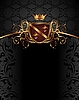Vector clipart: gold vintage heraldic elements