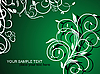 Векторный клипарт: растительный фон-орнамент