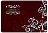 Векторный клипарт: цветочный красный фон для дизайна карты