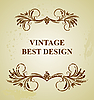 Vector clipart: Vintage background card