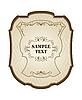Vector clipart: Vintage label, wine