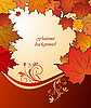 Vector clipart: autumn floral background