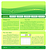 web site green template