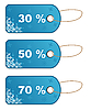Vector clipart: set winter discount tickets