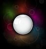 Vector clipart: speech bubble on dark background