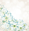Vector clipart: Spring flower background