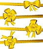 Vector clipart: Gold christmas bow decoration