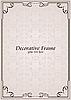 Vector clipart: ornate frame