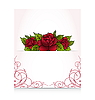 Vector clipart: romantic letter with bouquet roses