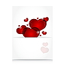 romantic letter with cute hearts