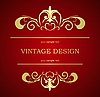 Vector clipart: Vintage template
